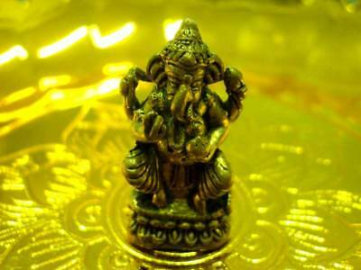 Lord Ganesh God Statue Hindu Deity Figure Magic Lucky Om Talisman Thai Amulet