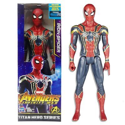 "Marvel Avengers Infinity War Titan Hero Series Iron Spider 12"" Action Figure"