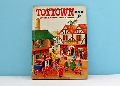 Vintage Toytown Annual 1973 with Larry The Lamb Retro Childrens Book