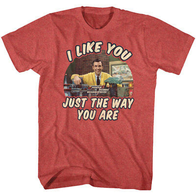 Mister Rogers Neighborhood I Like You Just The Way You Are Men's T Shirt Fred TV