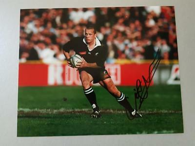 Christian CULLEN signed New Zealand All Blacks Rugby 8x10 Photo AFTAL Dealer 135
