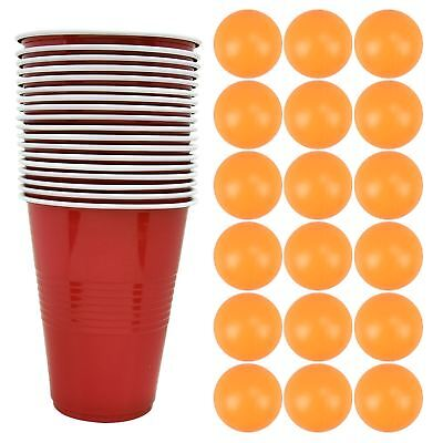 18pc Beer Pong Set Drinking Game Alcohol American Red Cup Beer   pong Frat Party