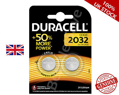 2 x DURACELL CR2032 3V LITHIUM BUTTON BATTERY COIN CELL DL/CR 2032 - EXPIRY-2028