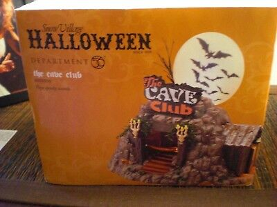 "Department 56 Halloween SNOW VILLAGE ""THE CAVE CLUB"""