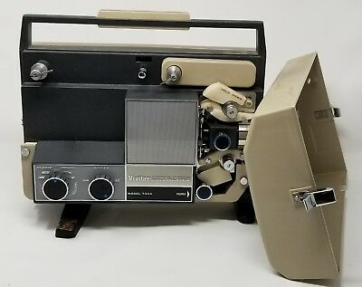 Vintage Vivitar Automatic Threading Dual 8 Projector Model 733A - Ships FREE