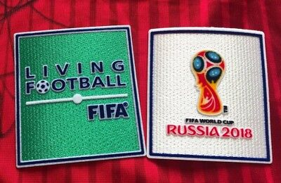UK STOCK! World Cup Russia 2018 Living Football Iron on Embroidered Patch Badge