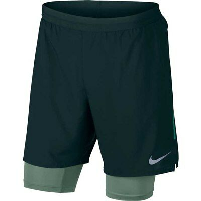 "Men's Nike Flex Distance 2-in-1 7"" Running Shorts SZ:Large-Green BNWT-892905-328"