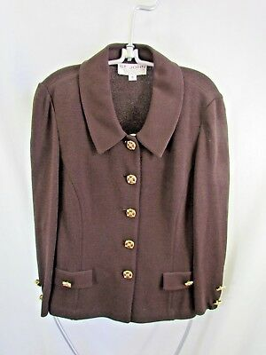 St. John's  Collection By Marie Gray Brown Jacket Size 10