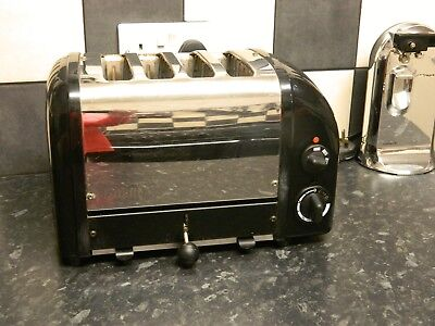 Dualit 4 Slice Toaster Black and stainless steel finish
