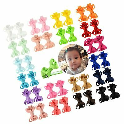 """YHXX YLEN 20 Pcs 2"""" Mini Baby Girls Hair Bows Clips Hairpin Barrettes for Inf..."""