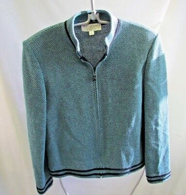 St. John's Collection By Marie Gray Teal/Black Jacket Size 10