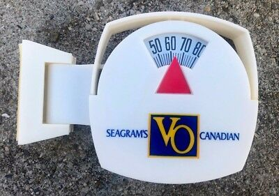 Vtg Morco Seagrams VO Canadian Whiskey Bathroom Scale Type Thermometer Sign USA