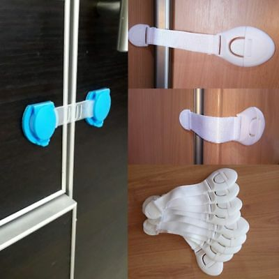 10pcs/Lot Drawer Door Cabinet Cupboard Toilet Safety Locks Baby Kids Safety Care