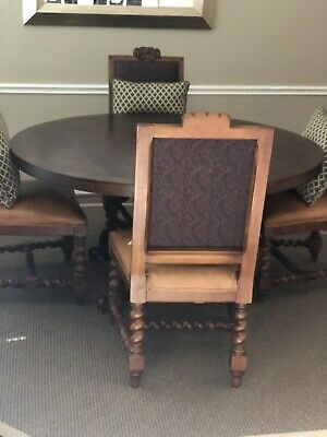 Vintage Baroque Lauren Home Dining Room 4 Armless Chairs by Henredon