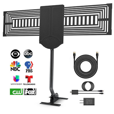 HDTV Antenna Outdoor TV 150 Mile Reception Rang with Signal Booster