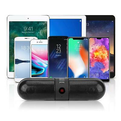 Bluetooth Pill Wireless Portable Speakers HD Stereo Sound & Enhanced Bass NEW