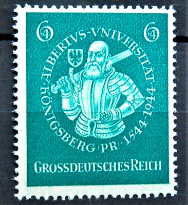 1944 WW2 REAL NAZI 3rd REICH ERA GERMANY STAMP DUKE ALBRECHT MINT MNH