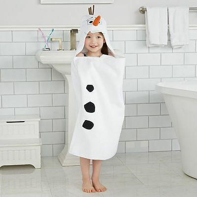 "Disney Jumping Beans - Frozen - Olaf - Hooded 25"" x 50"" Cotton Bath Towel Wrap"