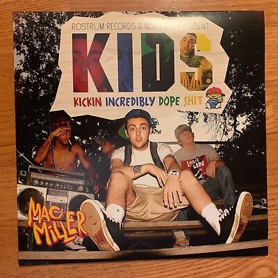 "Mac Miller - Kids [2LP] Limited Edition Black Vinyl 12"" Record 2018 33 RPM"
