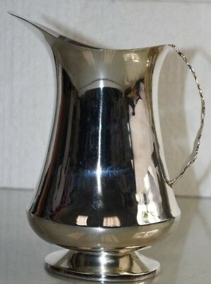 NEW Williams Sonoma Plymouth Metal Silverplate Silver Plate LARGE Pitcher