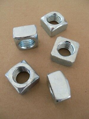 "Standard SAE 3/4""-10 Square Nut - Course Thread - Zinc Plated - 5 10 20 pack"