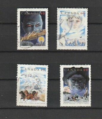 "Canada  1991 # 1334 - 1337  ""  Canadian Folklore 2 "" Set of 4  Used  F"