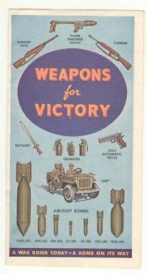 Vintage WWII Weapons For Victory Pamphlet American Express