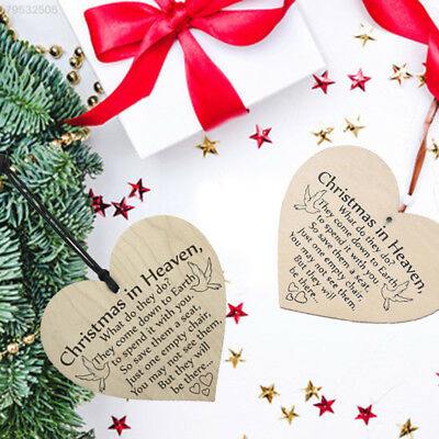 DECB Wooden Christmas Wooden Pendant Xmas Tree Ornament Christmas in Heaven