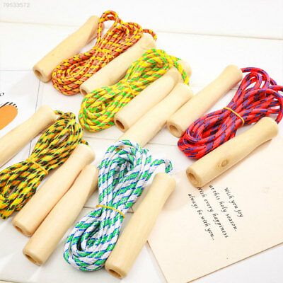 9EAF Wood Kids Jump Rope Child Skipping Rope Outdoor Workout Toy Sport Motions