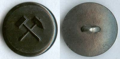 Knopf Bergbau BRD Uniform button bottone 19mm Kunststoff