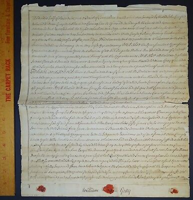 RARE 1761 Manuscript Indenture Land Document Ulster County NY Highlands Gray etc