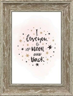 Love You To The Moon And Back Nursery Print Frameless