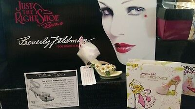 """Just The Right Shoe-"""" Delicate Daisies"""" -Breast Cancer Awareness Shoe Box  COA"""