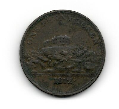 1812, J M Fellows, Nottingham, One Penny Token. A pound Note for 240 Tokens.