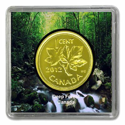 2012 Canadian Penny Plated 24k Gold Magnetic