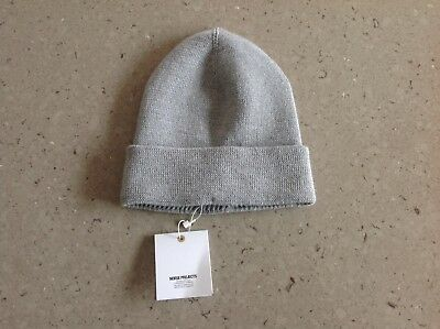 b01793e203d Brand New Mens Norse Projects Beanie Merino Wool Light Grey Melange Hat Knit