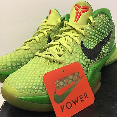 04facf899cbb Nike Zoom Kobe VI 6 sz 8.5 Grinch Volt Green Apple Christmas Xmas Red  429659-