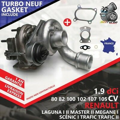 Turbo NEUF RENAULT SCÉNIC I 1.9 dCi RX4 -75 Kw 102 Cv 751768 AVEC JOINTS GASKET