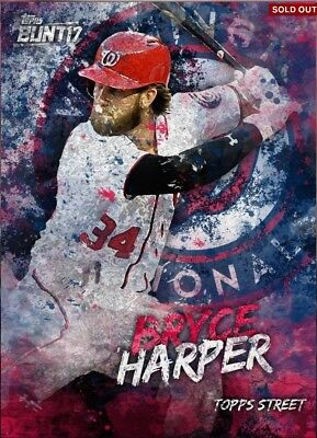 Topps Bunt Bryce Harper Offseason Street Award Washington Nationals Digital Card