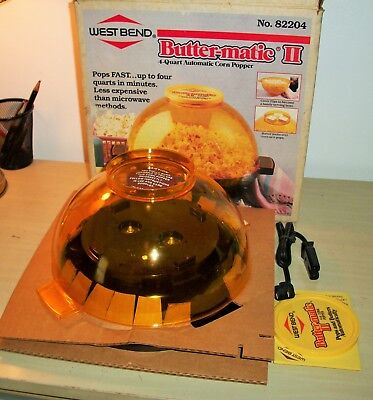 West Bend Butter Matic II 4 Quart Automatic Corn Popper 82204