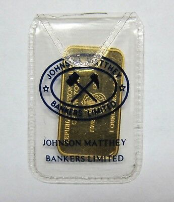 Rare 1 Oz   Gold bar, made by JM of London for  RNB of New York.