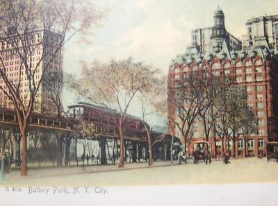 New York City Elevated Trains postcards lot of 5