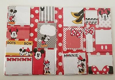 NEW Disney Mickey Mouse Minnie Mouse Sticky Note Set 16 Note Pads 30 Sheets Each