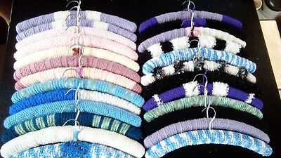 25 Hand knitted covered coat hangers adults