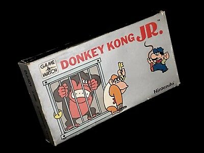 Nintendo Game and Watch Donkey Kong Junior with box foam insert and instructions
