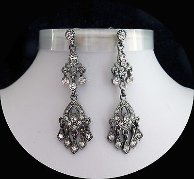 Vintage Fashion Chandelier Earrings with Clear Australia Crystals E2293