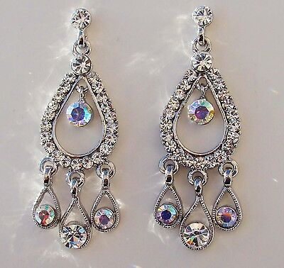 Vintage Bridal Chandelier Earrings with Clear Australia Crystal E2084A