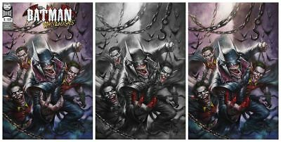 Batman Who Laughs #1 Lucio Parrillo Trade/Bw/Virgin Variant Set Ltd To 1000 Sets
