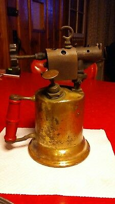 Vintage Blow Torch The Turner Brass Works Metal & Brass SYCAMORE, ILL NO. 205AN