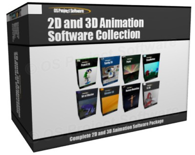 GIFT ITEM - Collection - 2D 3D Complete Graphics Animation Software Create Carto